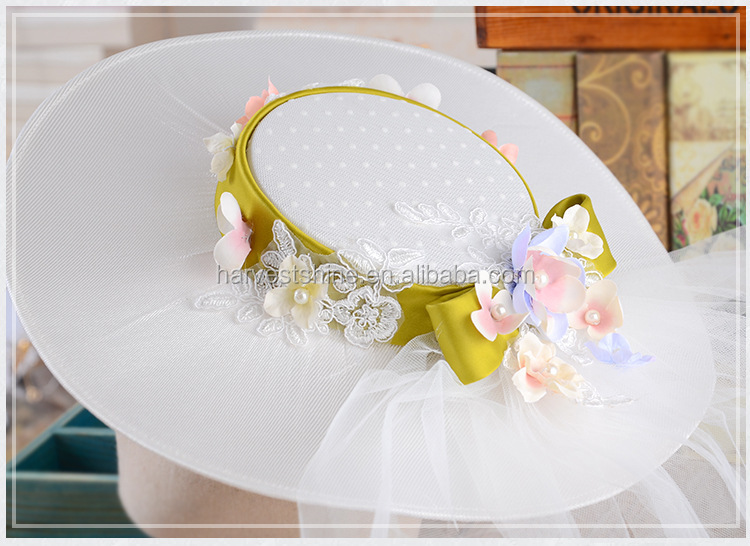Bride Wedding Hats with Veils,Wholesale Good Price 24h Fast Shipment