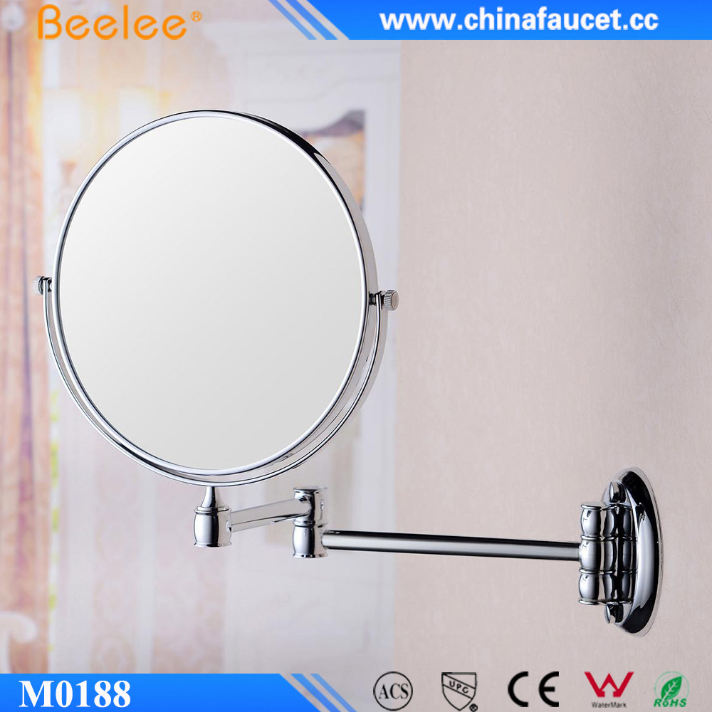 M0188 Round Wall Mounted EMC Metal Frame Folded Cosmetic Mirror
