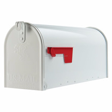 metal powder coated mailbox american White Color tin antique mailbox