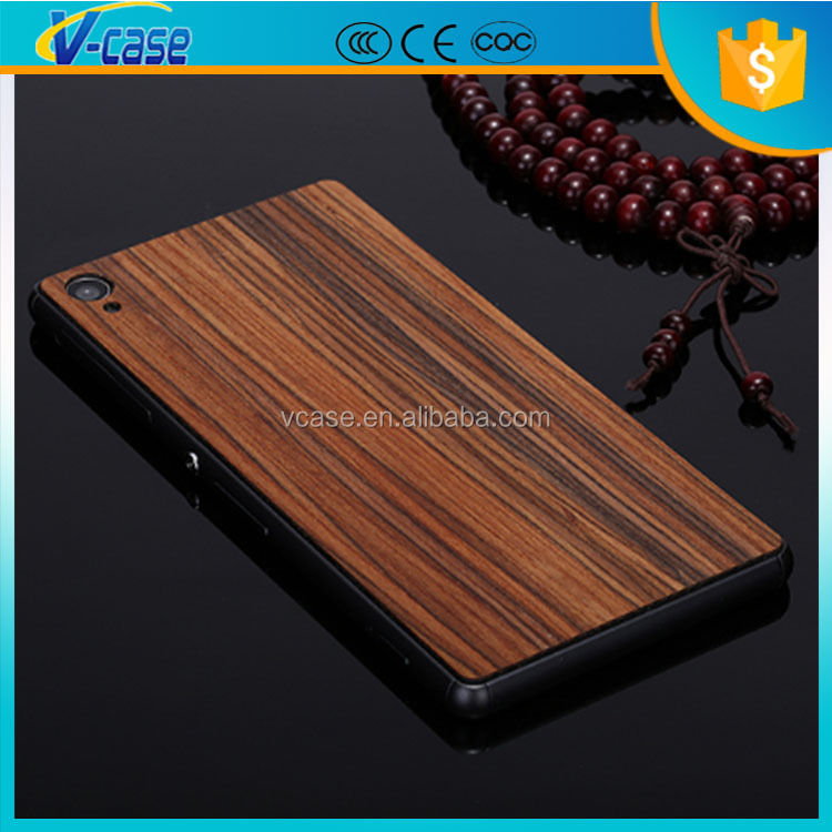 2015 eight wood kinds carved wooden phone case, art wood phone case, wood case for sony xperia z1 l39h