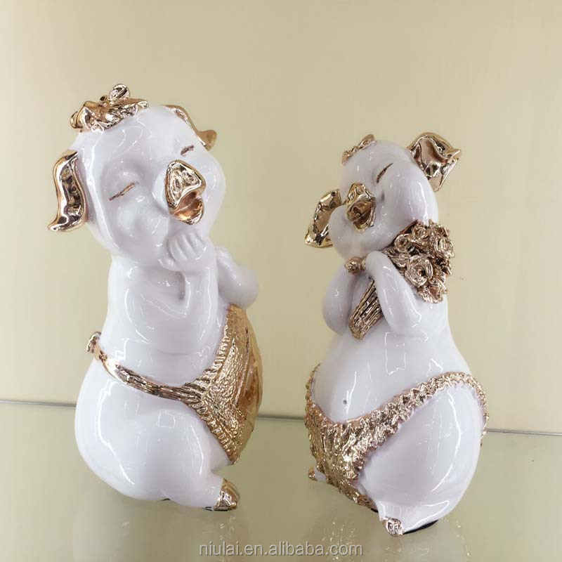 Resin Material Clay figures Pig Family Polyresin Animal Sculpture