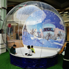 Outdoor decorations christmas & halloween giant inflatable human size snow globe for sale / cheap snow globes with photo insert
