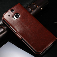 2016 Christmas Luxury Business Book Case Folio Protective Case Wallet Design for HTC ONE M8