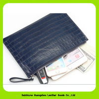 Hot sale classic crocodile skin PU business men's wallets 16913