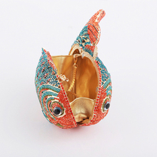 Wholesale design fish shape crystal bag clutche purses