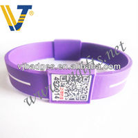 Stainless Steel Slide with qr code On Dog Collar