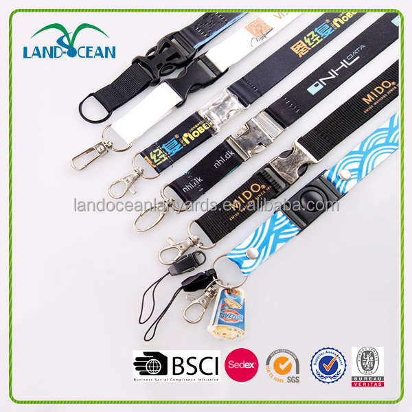 2017 high quality customizable wholesale lanyards