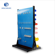 Factory price retail trade show peg board hanging steel hardware tools display rack with hooks