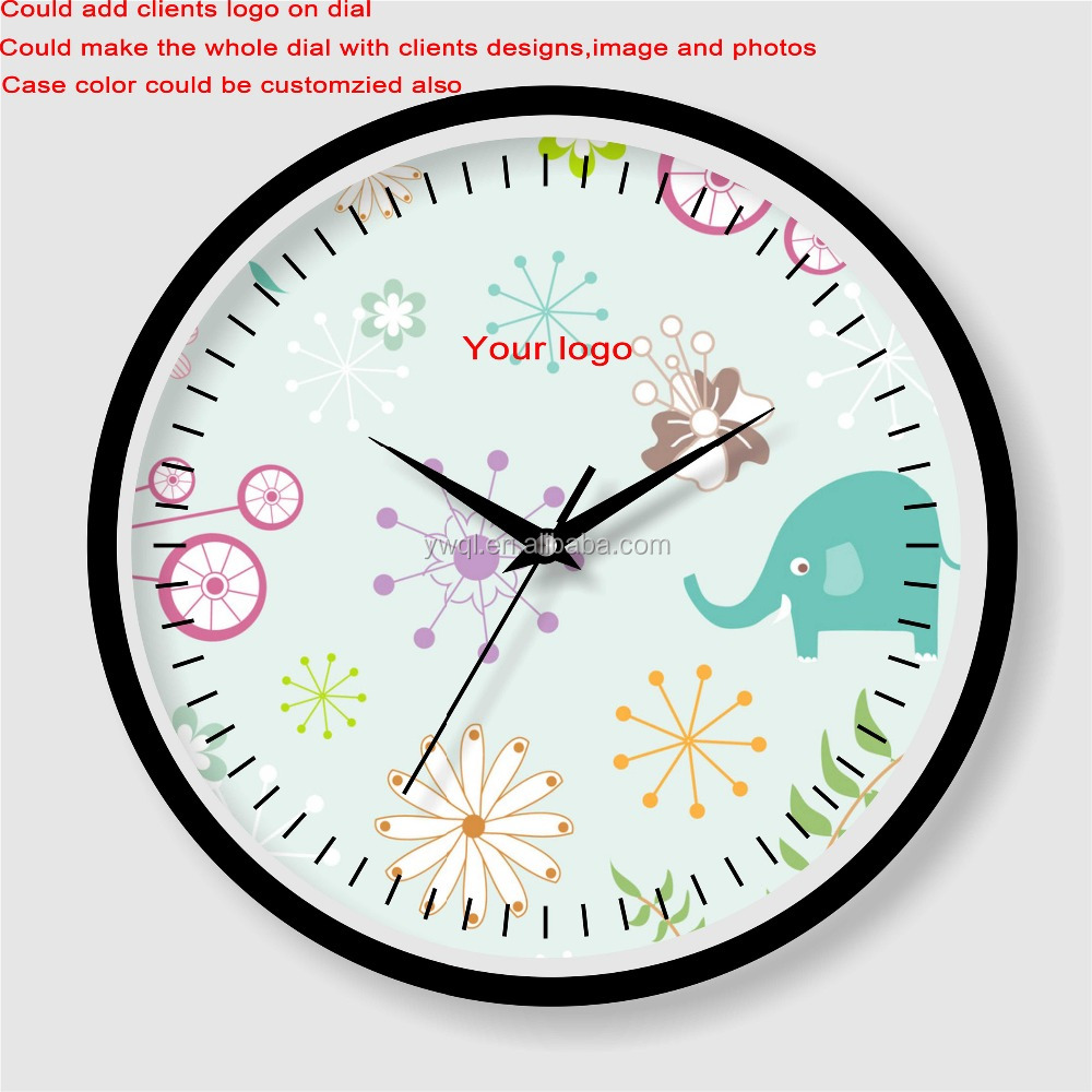 Wholesale cheap price customized kids children room wall clock