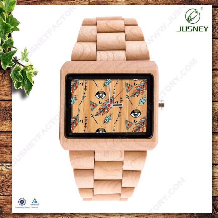 Hot sale factory price wooden watch custom-made your logo