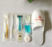 directly supply high grade disposable hotel amenity, hotel amenity set in plastic sachet