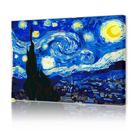 High quality Van Gogh works Star diy oil painting by numbers