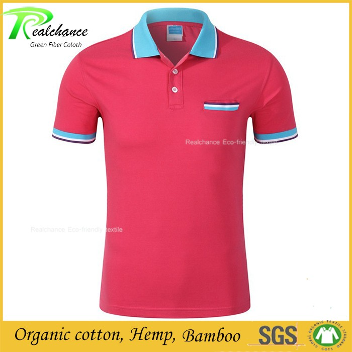 Bamboo Design Your Own Men Polo Bamboo T-Shirts Clothing Wholesale