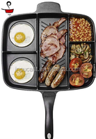 2016 new design five in one divided grill pan