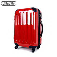 Factory Top Quality Red Hard Shell Suitcase Travel Luggage Sets Case Luggage Trolley Bags