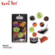 Best funny cat toy set stuffed with 100% pp halloween pet toy