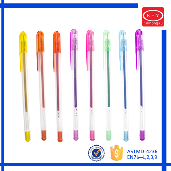 Vivid colors ink promotional product exporting gel pen
