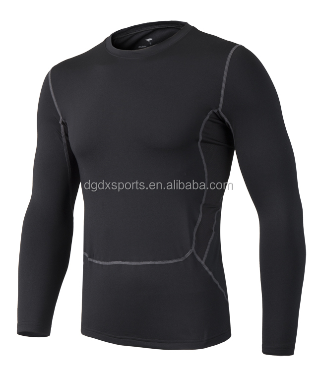 Men's Long Sleeve Running Quick dry Men Workout Compression Clothing Sport Shirt Base Layer T Shirt