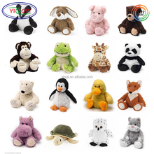 D361 Soft Mini Microwavable Cheap Animal Stuffed Microwavable Plush Toy