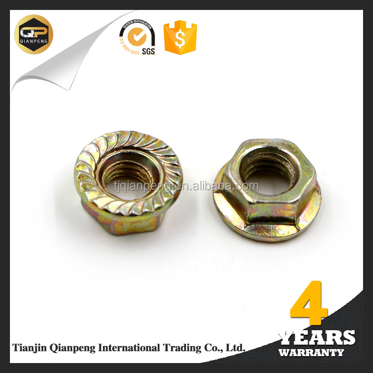 Hot selling High quality low pirce nylon lock hex flange nut
