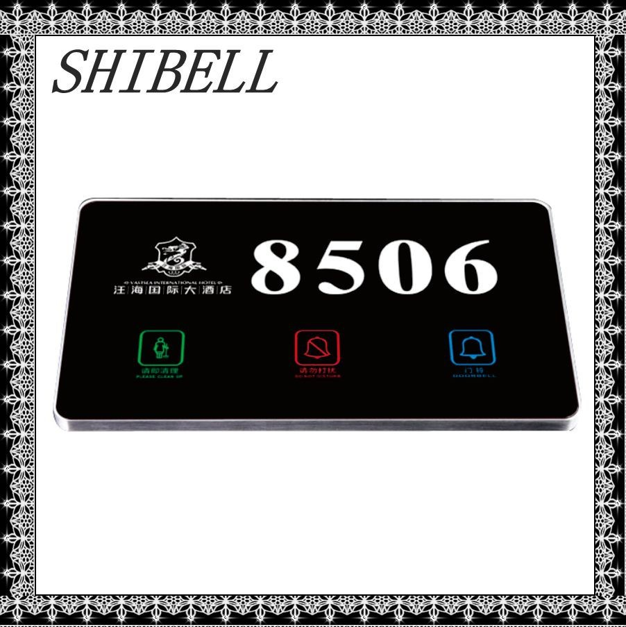 Shibell Hotel Touch Door plate, Electronic Touch Doorplate Hotel Touch Door Bell System