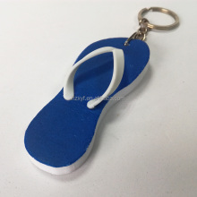 Eva foam customized soft flip flops floating key chain