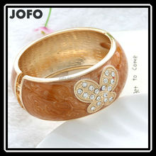New Fashion Spring Butterfly Enamel Cuff Jewelry Bangles 1 pc/pack JHJ0230