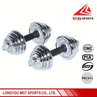 2016 New Fashion chromed dumbbell