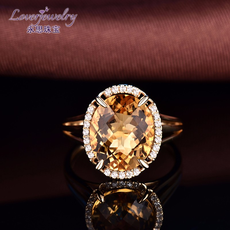 Custom Design Latest Simple Ladies Round Cut 4.6 Carat Crystal Hand Gold Ring Design Royal Jewelry Manufacturing