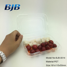 Customized size food packaging box clear plastic PET fruit salad container