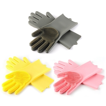 Non-toxic hot sale a pair silicone gloves dishwashing, manufacturer cleaning brush silicone dishwashing scrubber gloves