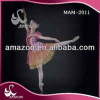 High quality Dance wear supplier Girls Stratified ballet dancewear