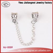 Beauty High Quality Alloy Silver Plated Chain Charm with Spacer beads