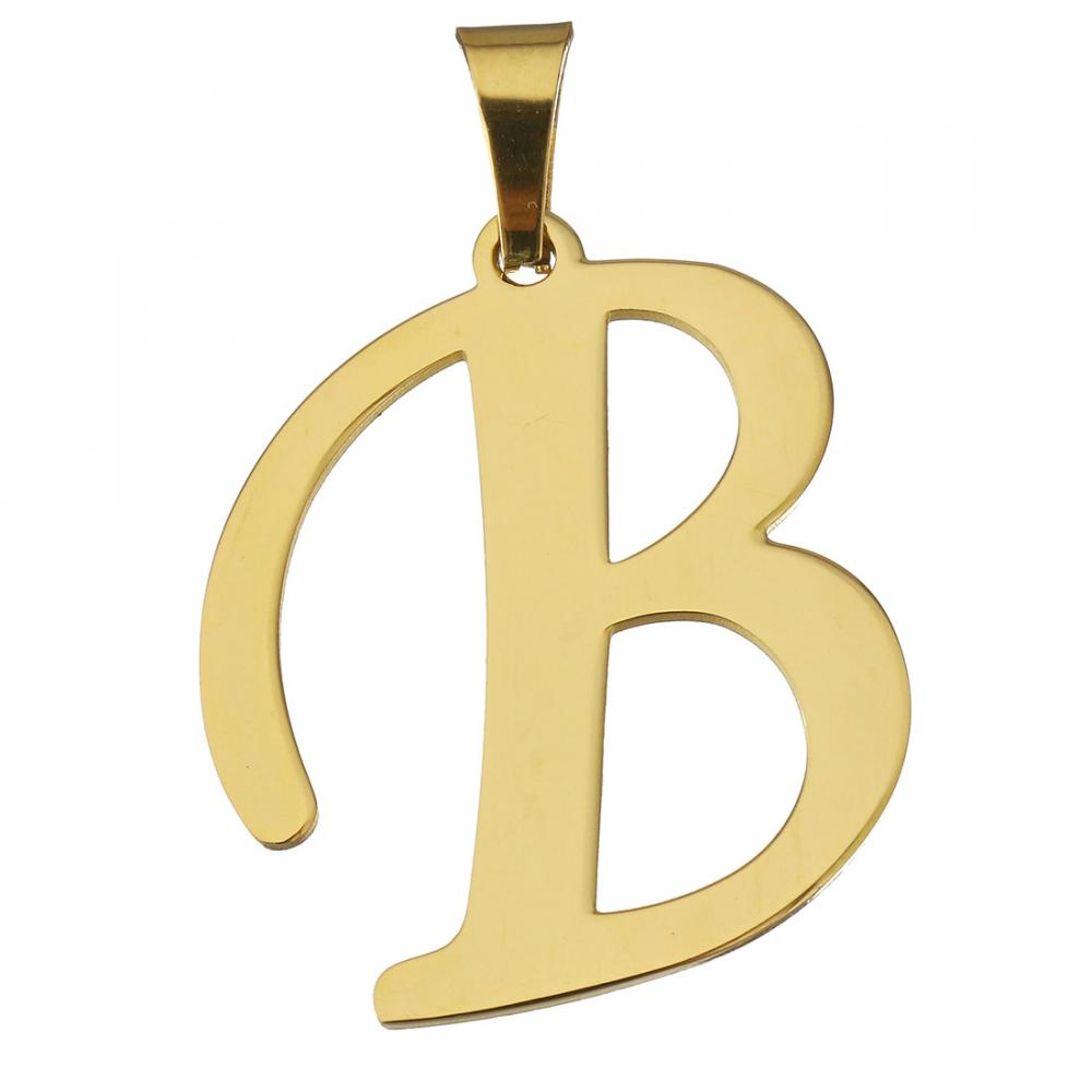 in stock different styles for choice cheap price stainless steel alphabet letter <strong>pendants</strong> for women 647735