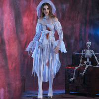Halloween Zombie Bride Costume Ghost Corpse Bride Dress for Adult Women evening party dress up cosplay vampire costumes