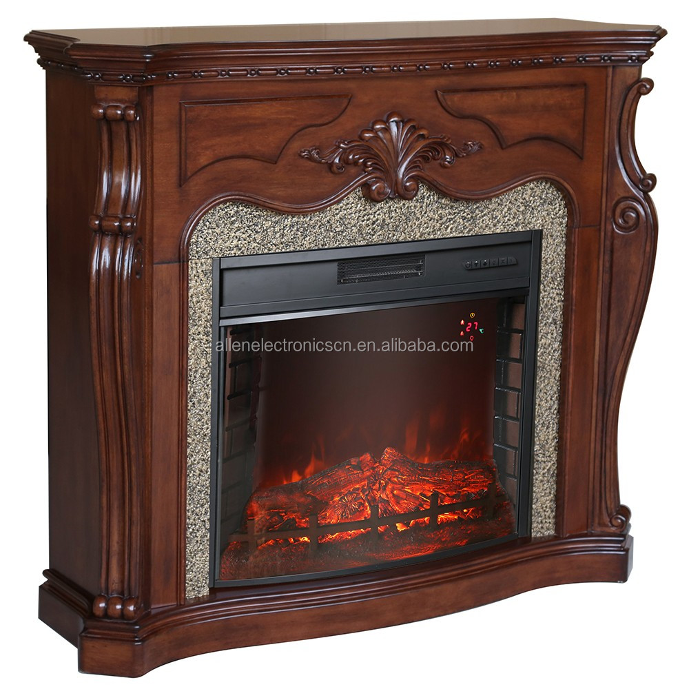 indoor used fireplace wood mantel electric fireplace