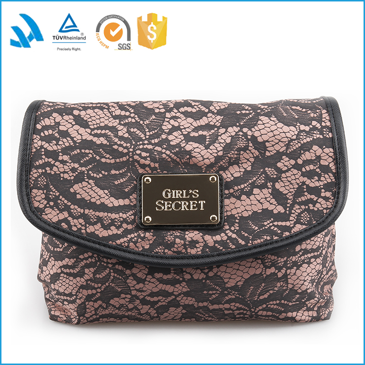 2015 Custom Make Up Modella toiletry promotional fashion elegant cosmetic makeup bag for lady