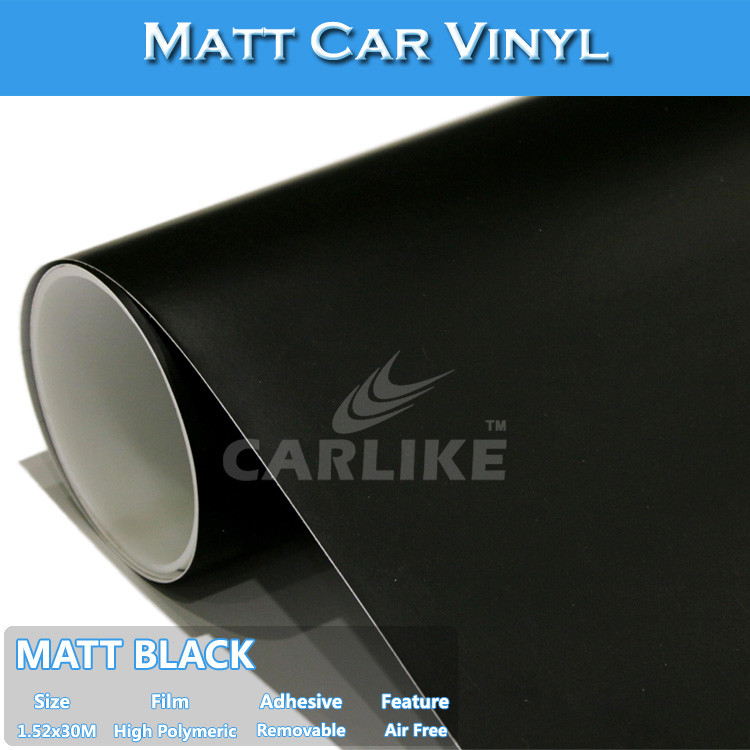 SINO Matte Black Adhesive Full Body Vinyl StickerCar Wrapping Vinyl