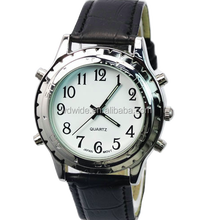 Analog alarm sports wrist watch for blind people speaking watch