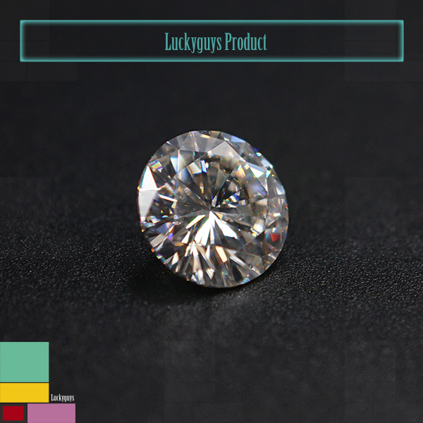 Top quality round brilliant cut D E F colors synthetic white moissanite wholesale
