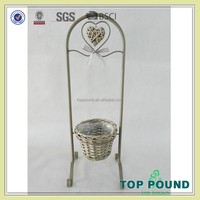 Metal Small Metal Flower Pot For