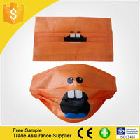 2015 custom disposable surgical medical printed cartoon face mask