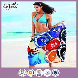 alibaba china california beach towels with CE certificate