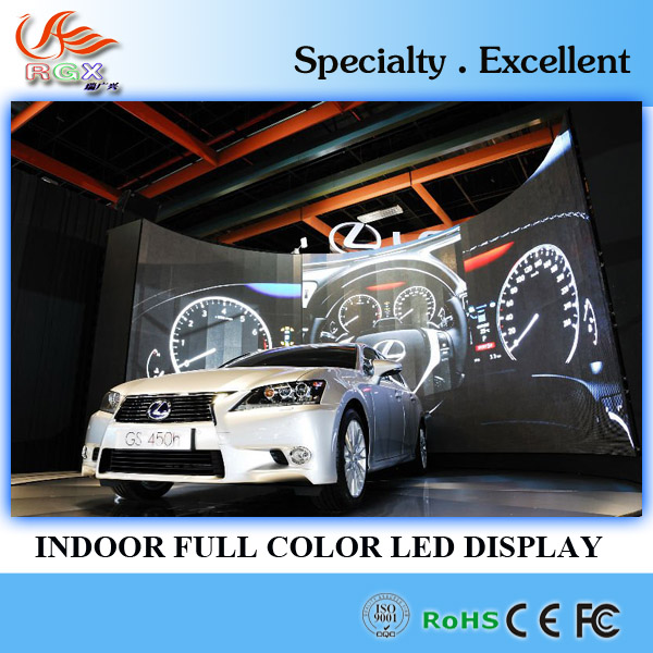 RGX indoor 1r1g1b 3in1 p6 rgb smd led 2600cd curved led wall