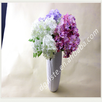 wholesale artificial hydrangea flowers for wedding PE material