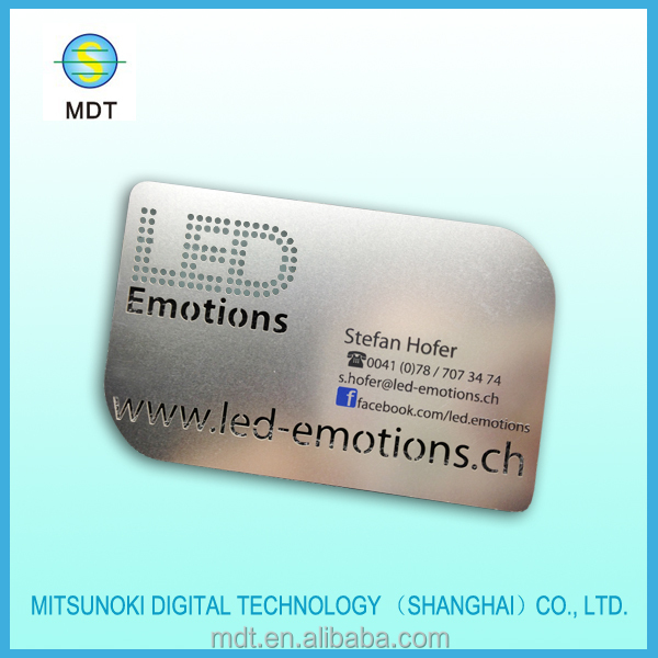 Cheap Metal Business Card Buy Metal Business Card Laser