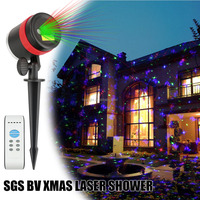New White Snowflake Lazer sky projector rgb laser lights christmas Twinkle Star Landscape light Shower