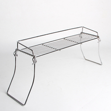 Metal Wire Mesh Folding Holder Display Rack on Countertop for Small Bathroom Space Savor