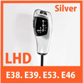for BMW E38 E39 E53 E46 Shift lever Knob (non LED) 2205967Z-S39 Gear knob Silver LHD