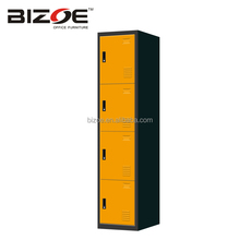 Factory direct KD colorful 4 doors changing room clothes storage steel sports locker